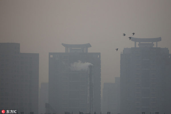 China on yellow alert for smog