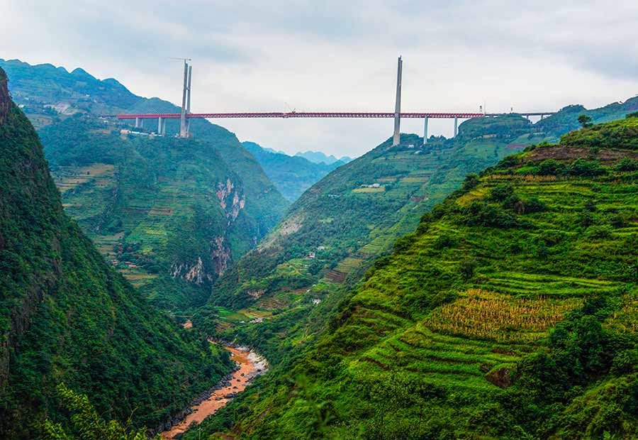Worlds Highest Bridge Opens In Guizhou Chinadailycomcn - Highest river in the world