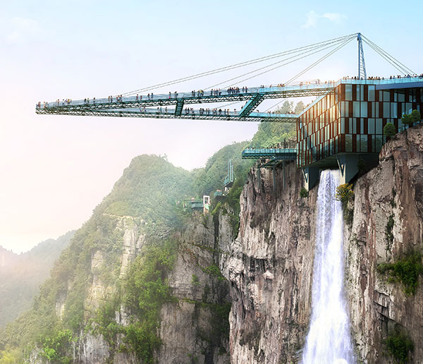 Chongqing To Unveil Worlds Longest Glass Skywalk China - China opens worlds longest skywalk