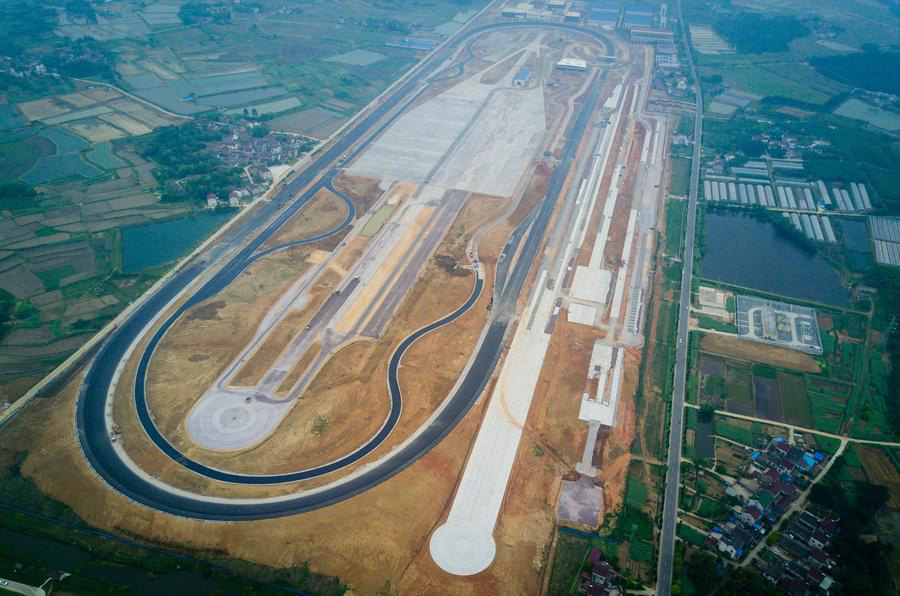 First test track paved by Chinese company