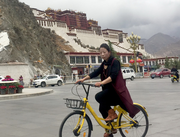 Lhasa moved by shared bike service