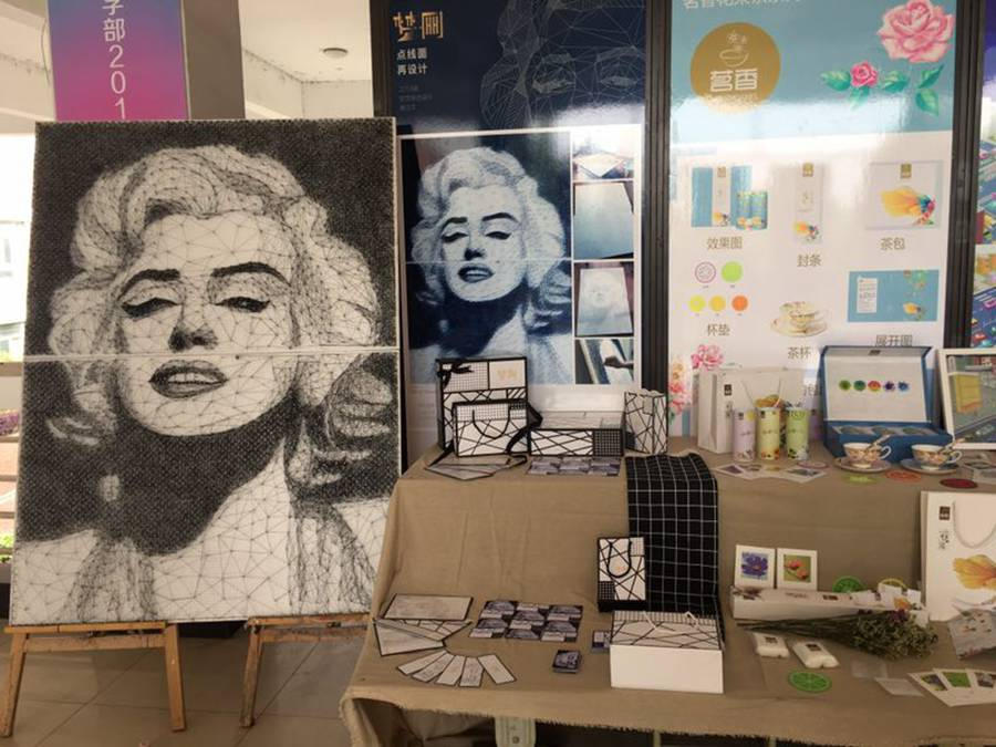 Wuhan student recreates Marilyn Monroe portrait using only nails and ...