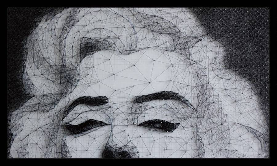 Wuhan student recreates Marilyn Monroe portrait using only nails and string