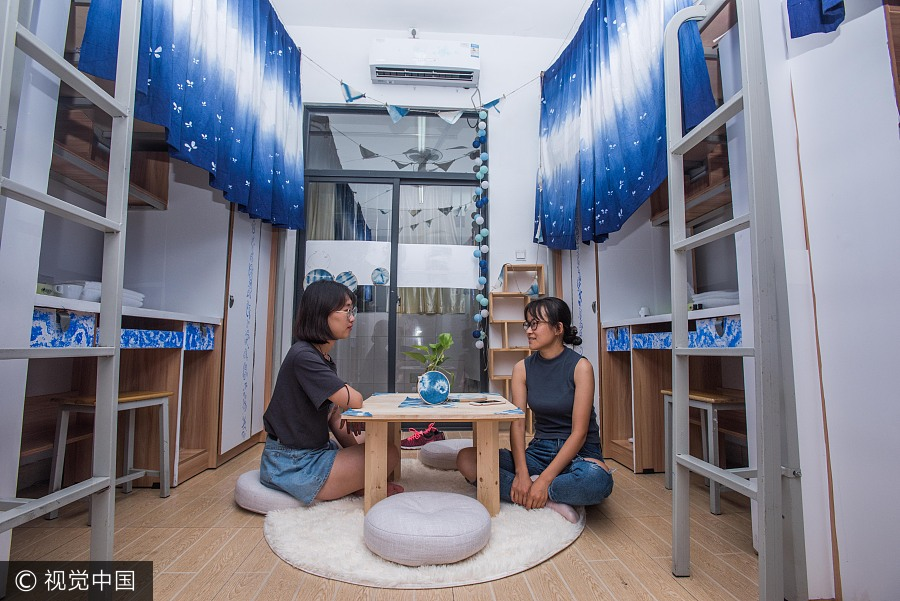 shared dorms a summer hit for visitors in chengdu 1 chinadaily com cn