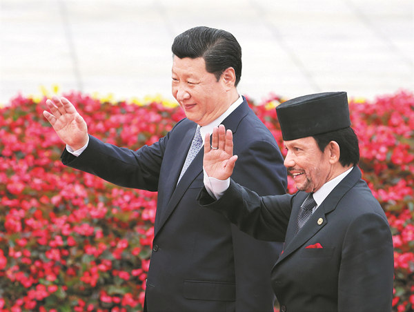 Xi discusses cooperation with Brunei sultan