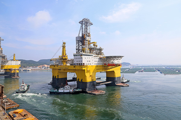 China-built ultra-deep-water drilling rig to set sail