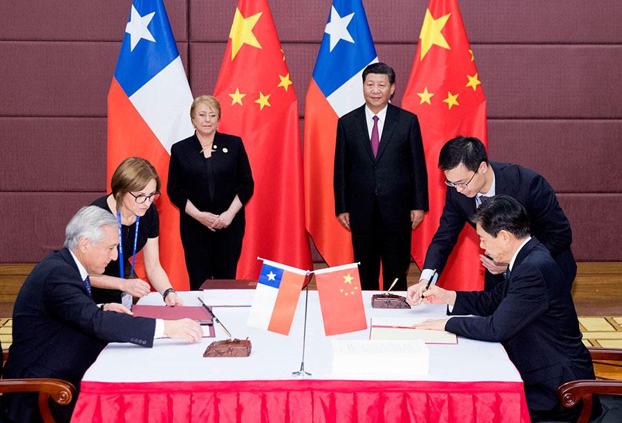 Xi Bachelet Witness Upgrade Of China Chile Fta1 Chinadaily