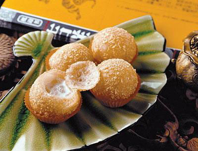 Delicacies from minorities for Asian cuisine desserts