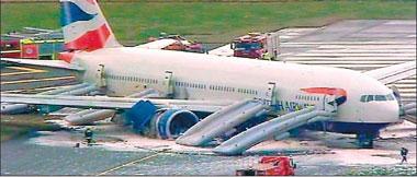 Beijing-London BA jet crash-lands, 4 injured