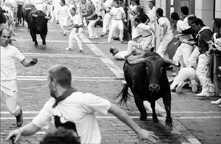 Running with bulls 'overwhelming'