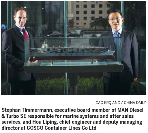 Diesel giant MAN helps boost 'green' shipping - Chinadaily com cn
