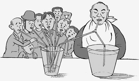 છે ગરીબોના કૂબામાં તેલ ટીપુંય દોહ્યલું, ને શ્રીમંતોની કબરો પર ઘીના દીવા થાય છે