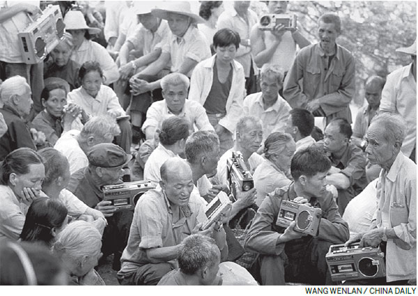 A moment in time: Music fans