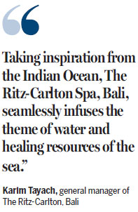 Wash away all worries at Ritz-Carlton Spa, Bali
