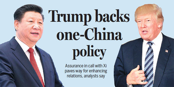 artikel trump backs one china policy in first presidential call with xi