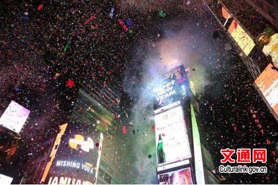 Chinese elements graced Times Square New Year's Eve celebration[1]