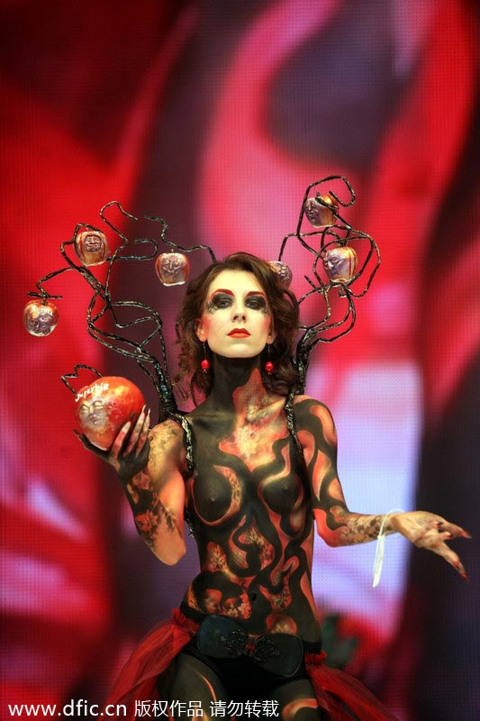 Art of body painting showcased in Russia[3]- Chinadaily.com.cn