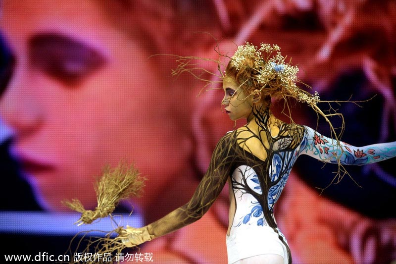 Art of body painting showcased in Russia[1]- Chinadaily.com.cn