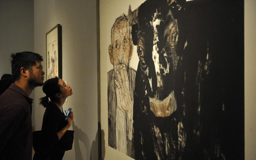 D Painting Exhibition : Ink painting and sculpture exhibition held in beijing
