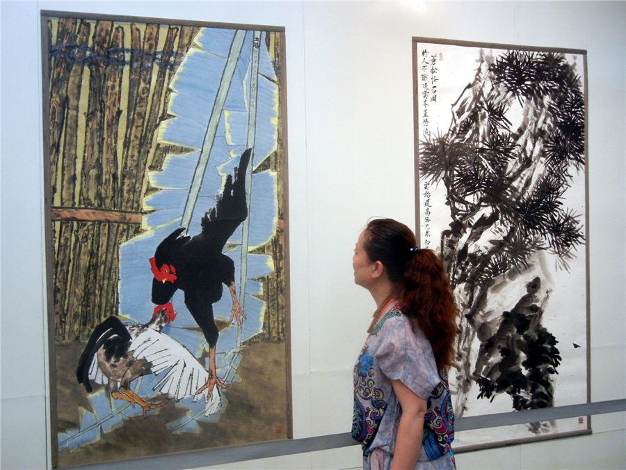 Contemporary Chinese paintings on display in Suzhou