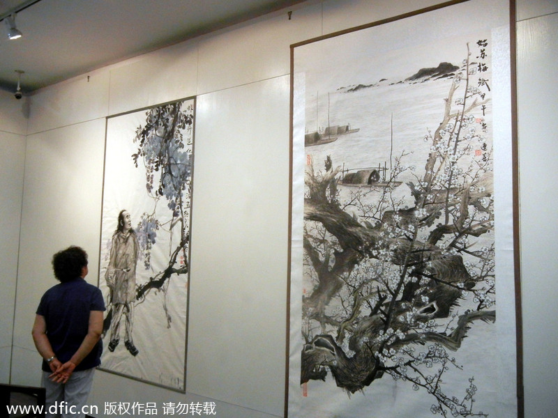 Contemporary Painters 2014 contemporary chinese paintings on display in suzhou[10