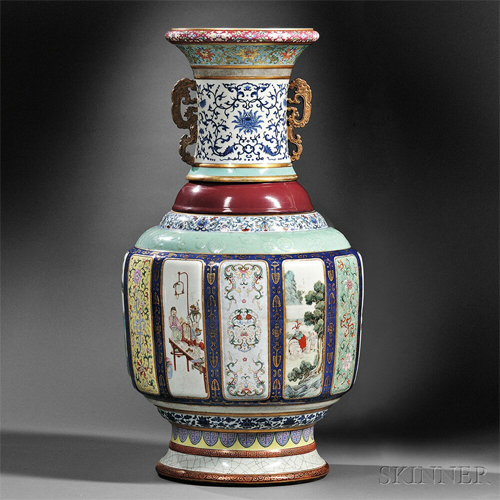 Chinese Porcelain Vase Sets Us Auction Record1 Chinadaily
