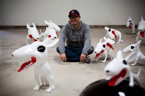 It's A Dog's Life For 'bull Terrier' Artist[1]- Chinadaily