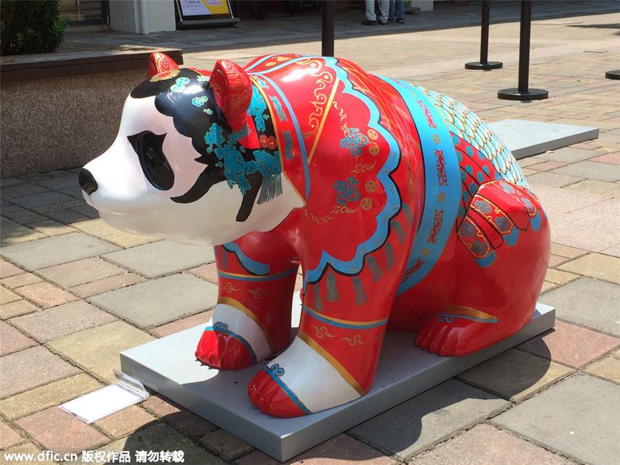 colorful panda sculptures represent chengdu 2 chinadaily com cn