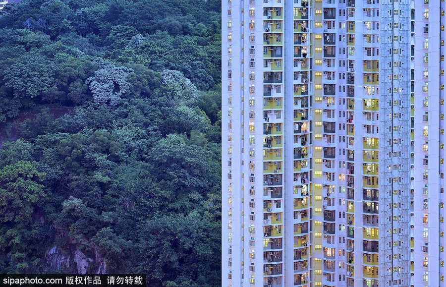French Photographer Captures The Blue Moment In HK - Photographer captures madness real estate hong kong