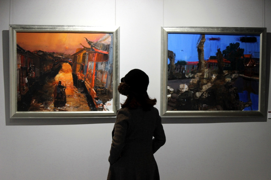D Exhibition China : Chinese contemporary oil paintings exhibition held in