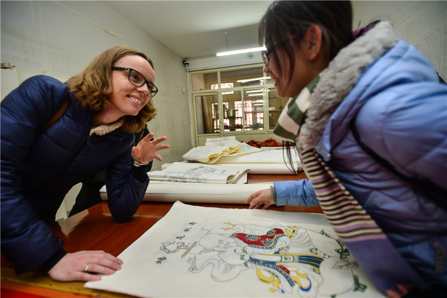 MIT Students Savor Chinese Woodblock Art In Tianjin8