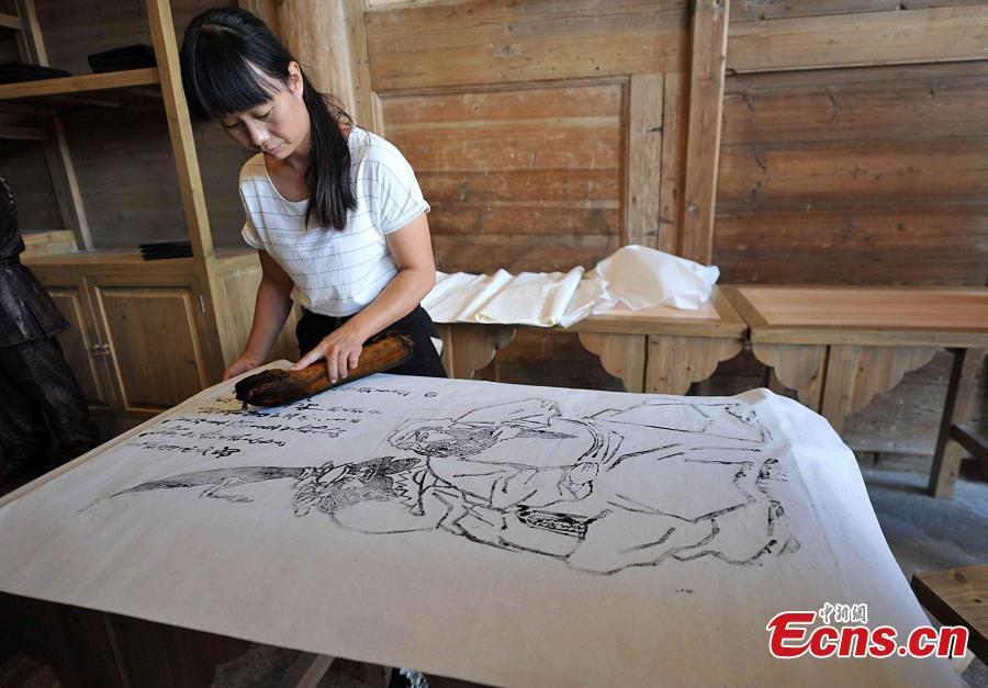D Printing Exhibition China : East china woodblocking printing center in decline
