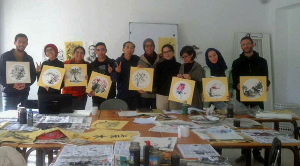 Chinese painting class debuts at Moroccan art school[5