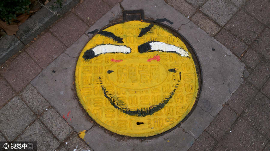 students turn manhole covers into works of art 1