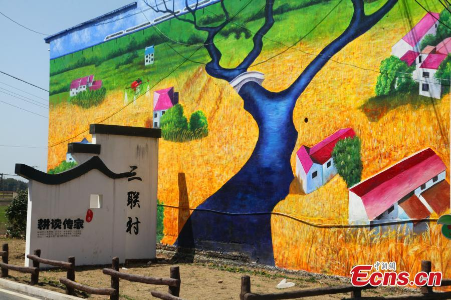 Giant 3D paintings draw visitors to remote village[1]- Chinadaily.com.cn