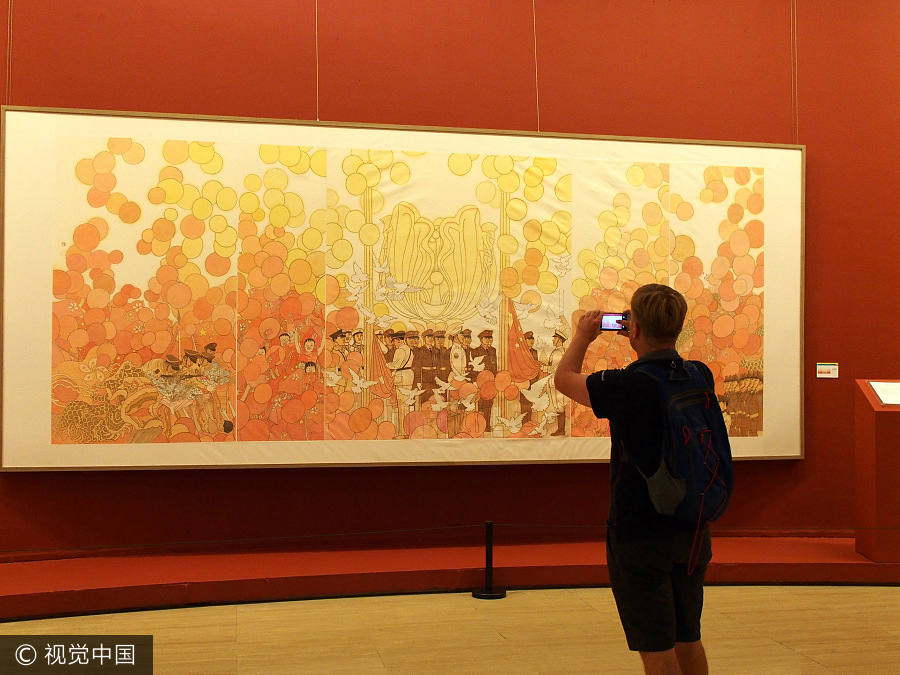 Painting exhibition marks 20 years of Hong Kong\'s return to China[1 ...