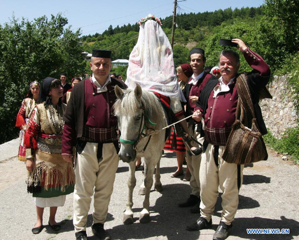 Wedding Ceremony Traditional.Traditional Wedding Ceremony Staged In Galicnik Macedonia 2