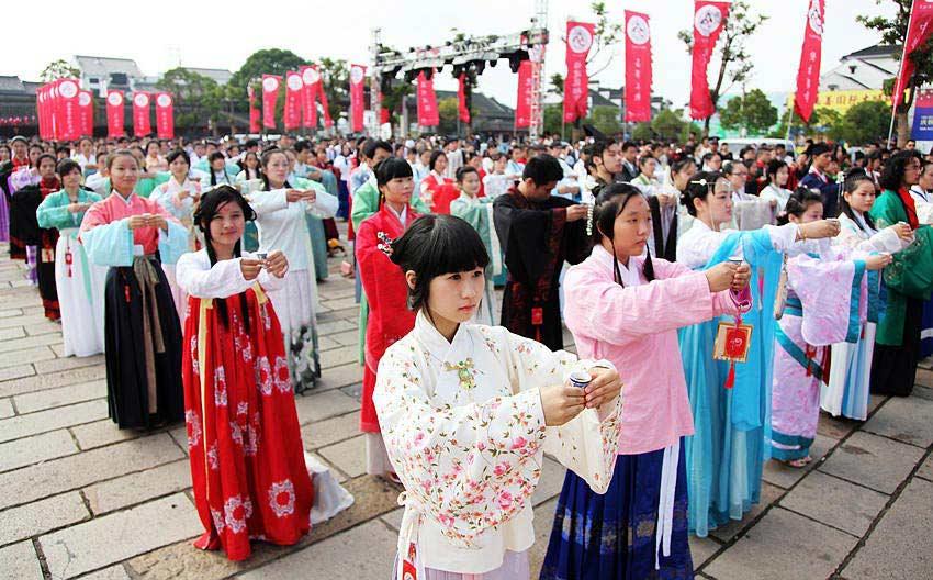 2013 Chinese Han Clothing Cultural Week in Xitang[1 ...