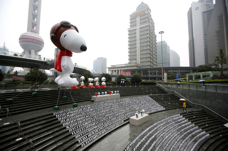 snoopy celebrates 65th anniversary in shanghai