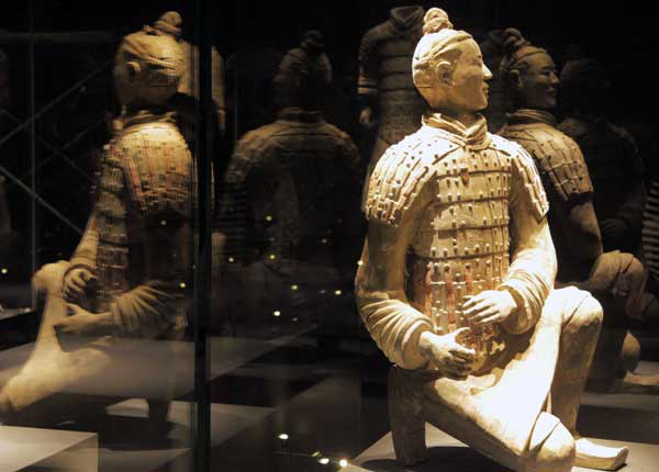 Colorful Qin Terracotta Figures exhibition in Xi'an[1 ...