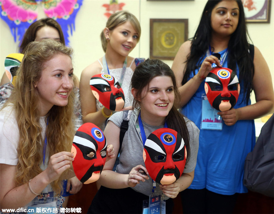 UK students experience Chinese culture in Tianjin[5]- Chinadaily ...