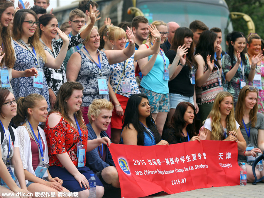 UK students experience Chinese culture in Tianjin[10]- Chinadaily ...