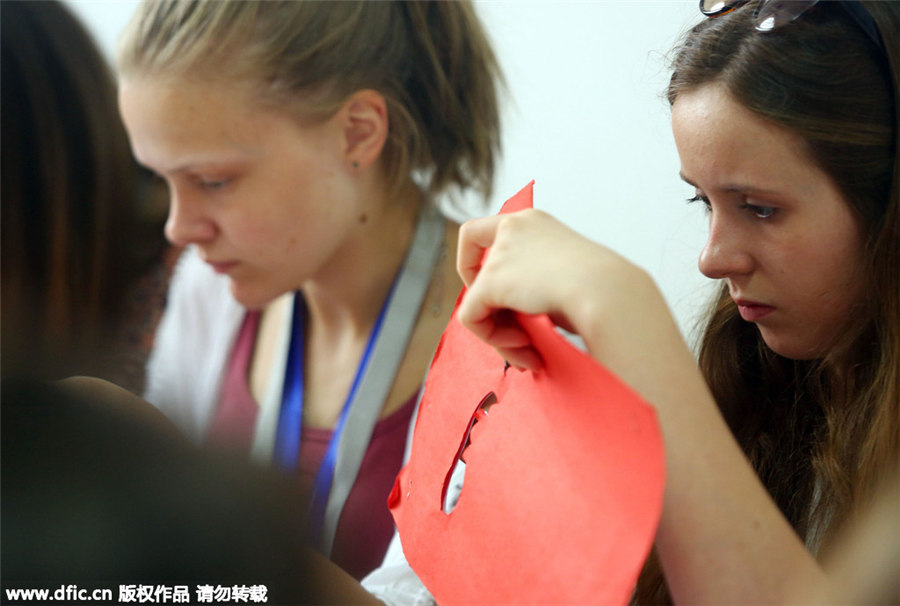 UK students experience Chinese culture in Tianjin[7]- Chinadaily ...