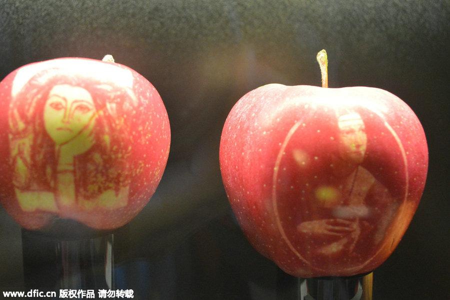 french apple art wows shanghai 1 chinadaily com cn