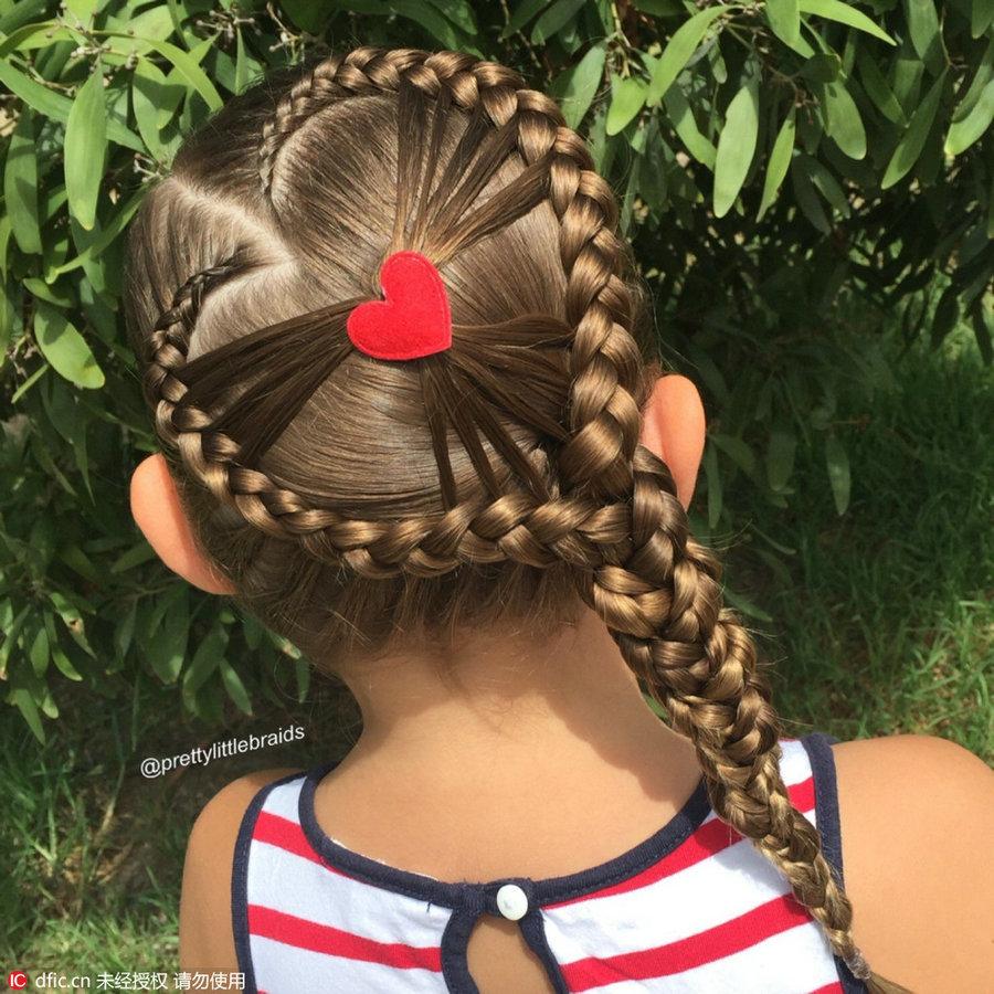 Astonishing Fancy Hair Braids On Little Girl Amaze Social Media 1 Chinadaily Short Hairstyles For Black Women Fulllsitofus