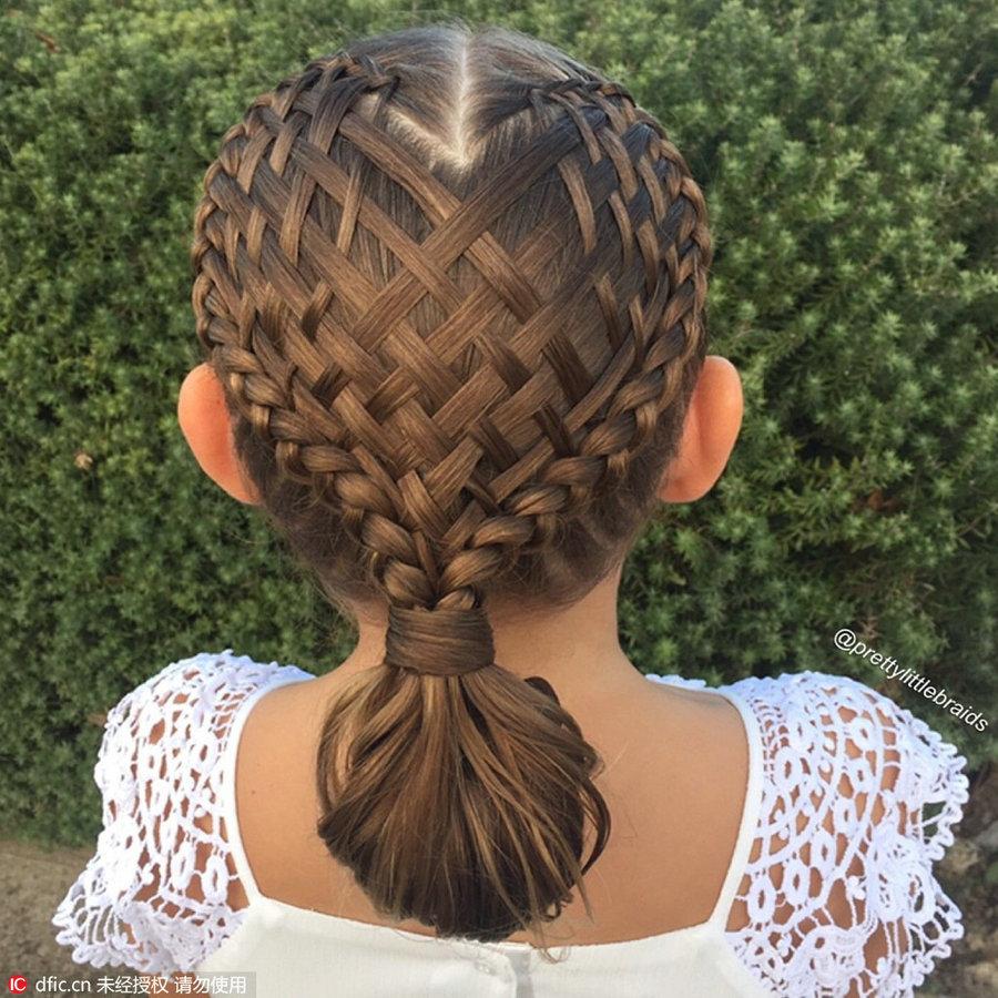Fantastic Fancy Hair Braids On Little Girl Amaze Social Media 3 Chinadaily Short Hairstyles For Black Women Fulllsitofus