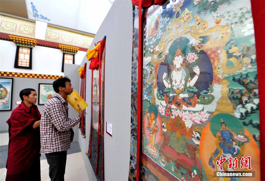 D Exhibition China : Exhibition of tibetan thangka painting held in lhasa