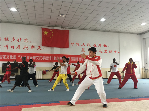 African students learn kung fu and Chinese in Tianjin[1]- Chinadaily