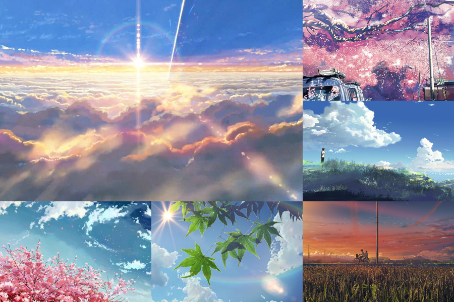 Makoto Shinkai Is Renowned For His Conscientious Efforts In Scenery Drawing Cloud Color Rays Of Light And Open Fields Represent The Four Essential