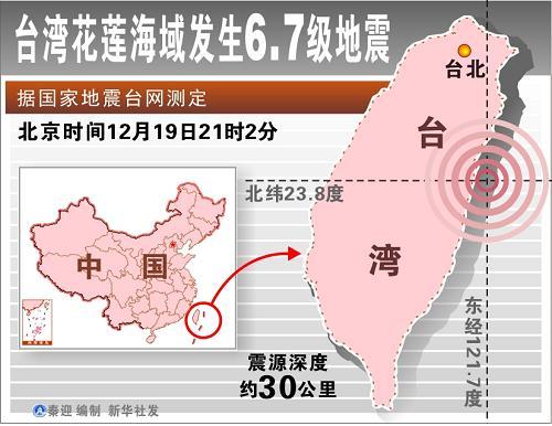 新华社云南分社电话_台湾花莲海域地震 尚无重大人员伤亡